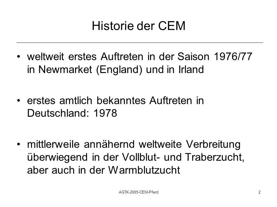 Historie der CEMweltweit erstes Auftreten in der Saison 1976/77 in Newmarket (England) und in Irland.