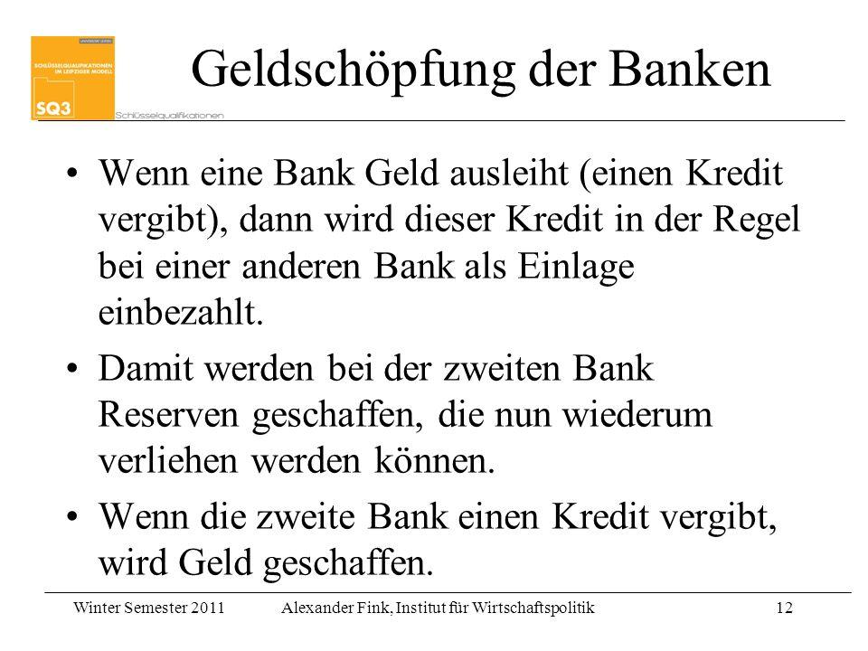 Geldschöpfung der Banken
