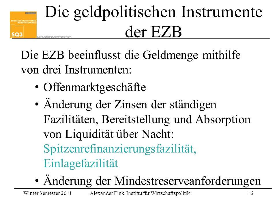 Die geldpolitischen Instrumente der EZB