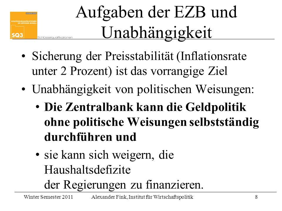 Aufgaben der EZB und Unabhängigkeit