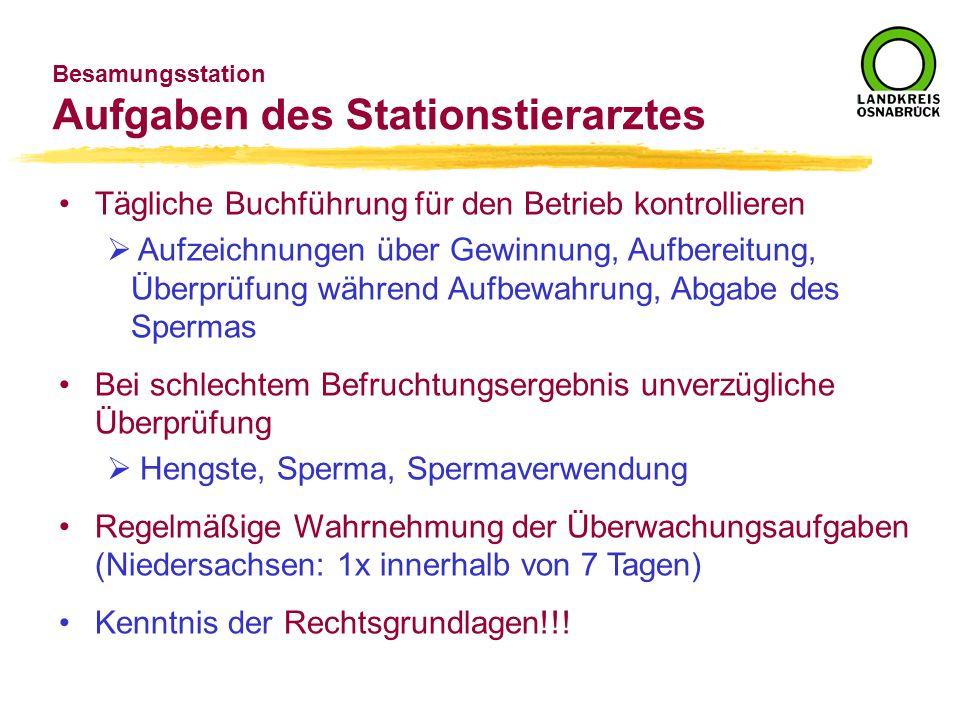 Aufgaben des Stationstierarztes