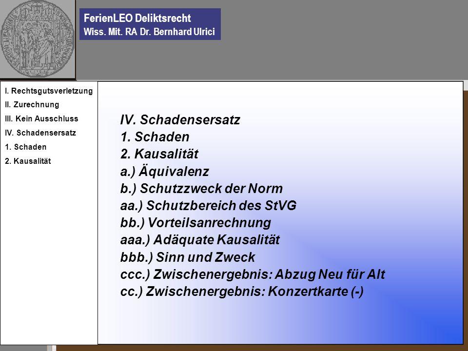 b.) Schutzzweck der Norm aa.) Schutzbereich des StVG