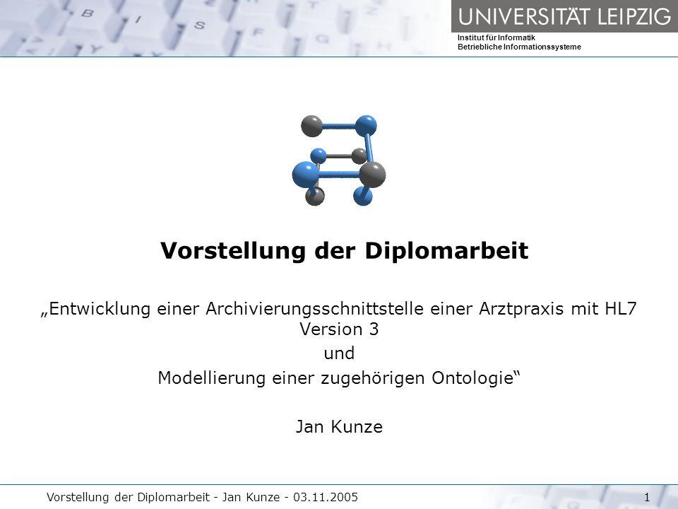 Vorstellung der Diplomarbeit