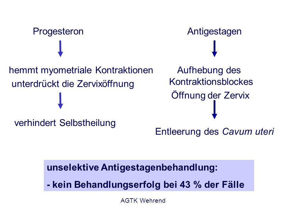 Entleerung des Cavum uteri