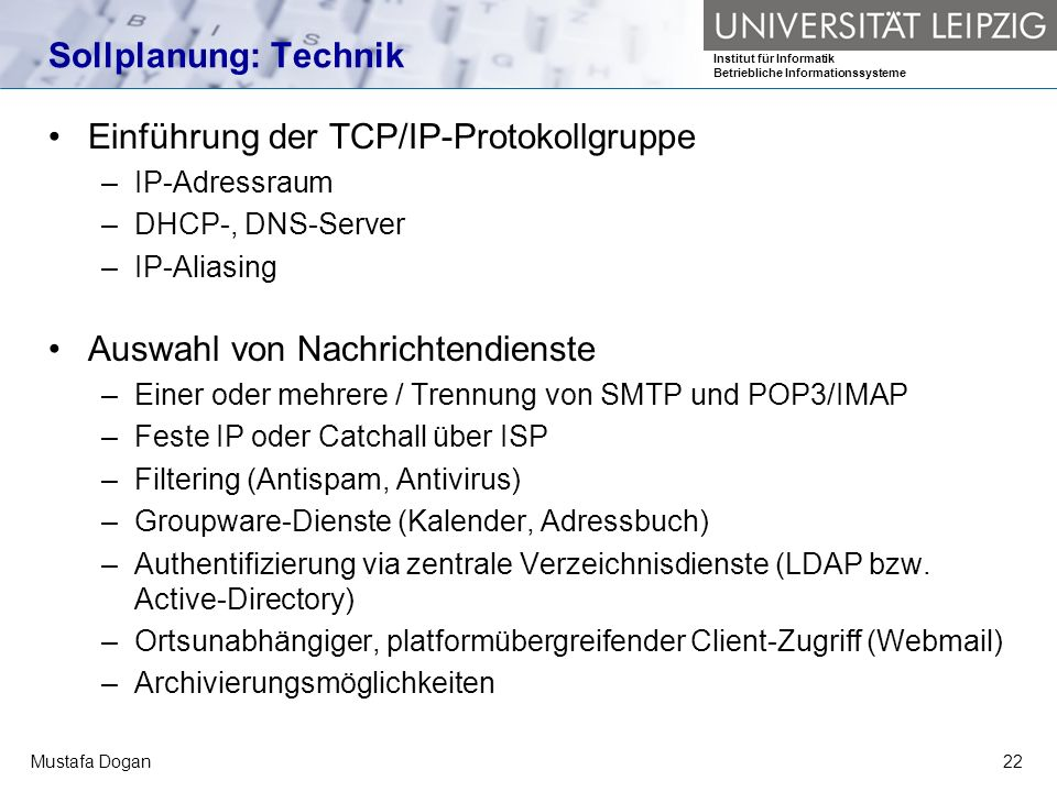 Einführung der TCP/IP-Protokollgruppe