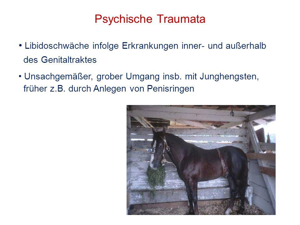 Psychische TraumataLibidoschwäche infolge Erkrankungen inner- und außerhalb. des Genitaltraktes.