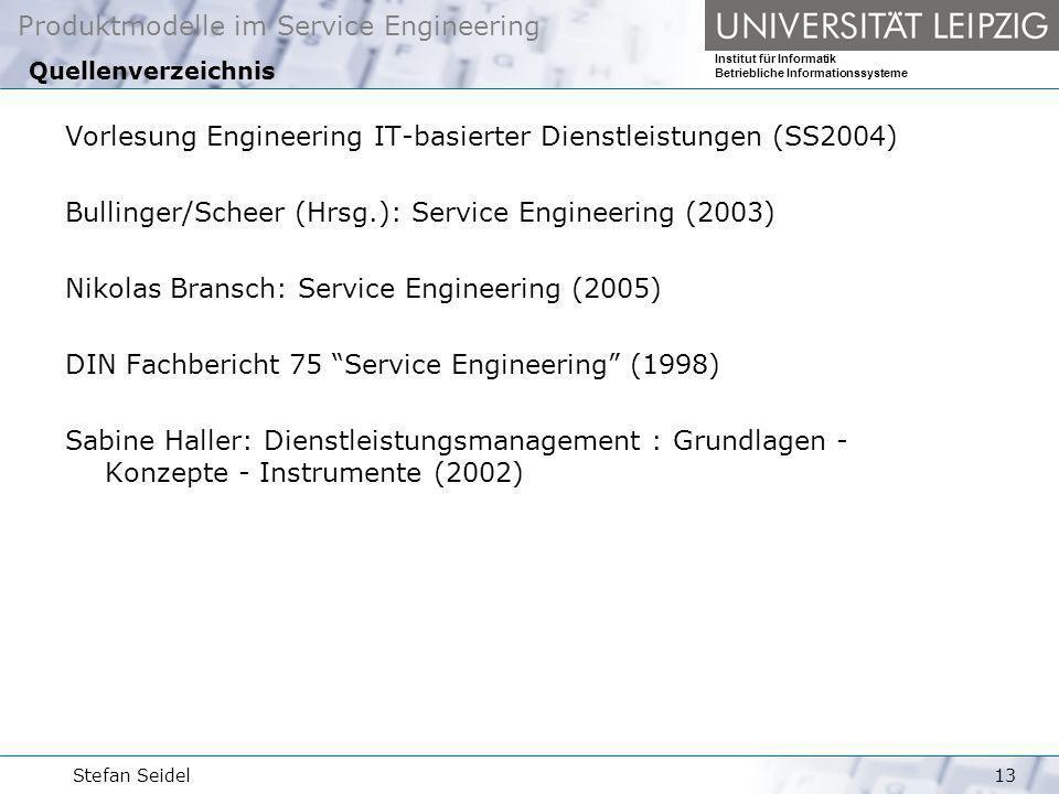 Vorlesung Engineering IT-basierter Dienstleistungen (SS2004)