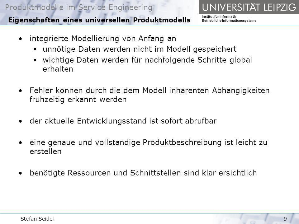 Eigenschaften eines universellen Produktmodells