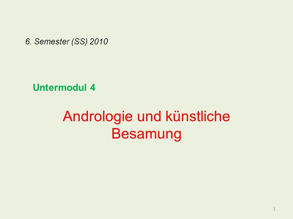Andrologie und künstliche Besamung