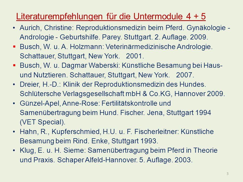 Literaturempfehlungen für die Untermodule 4 + 5