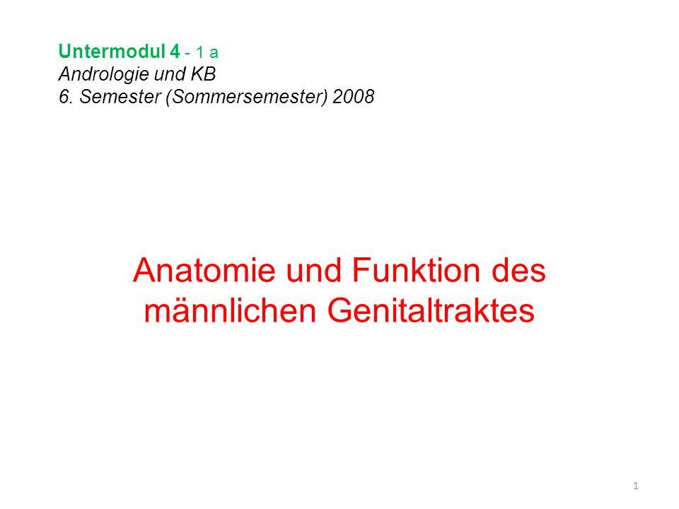 Untermodul 4 - 1 a Andrologie und KB 6. Semester (Sommersemester) 2008