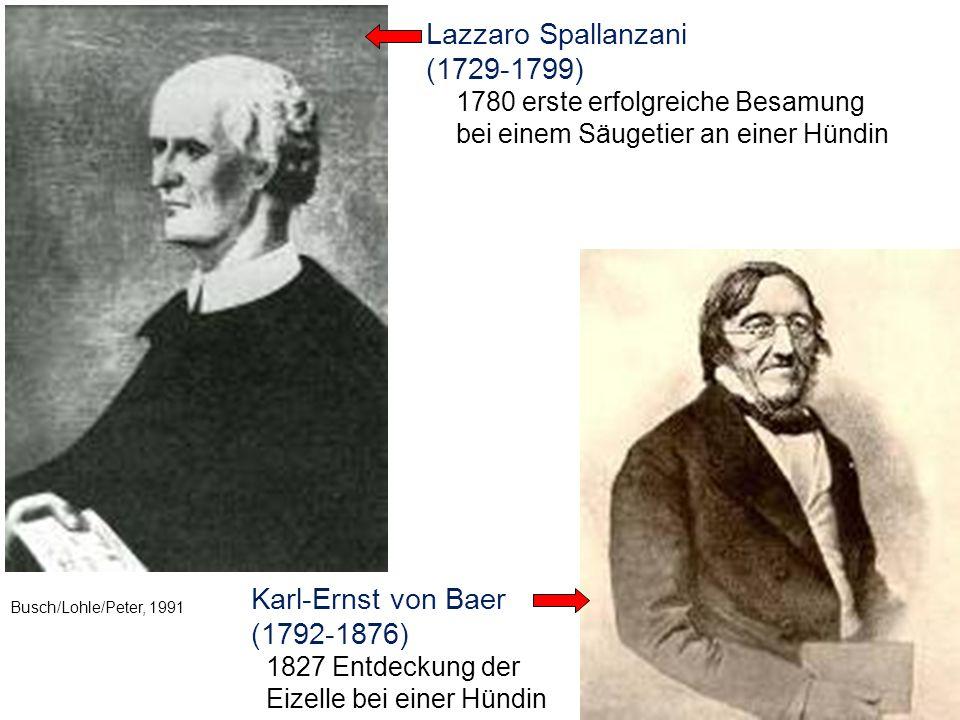 Lazzaro Spallanzani (1729-1799) Karl-Ernst von Baer (1792-1876)
