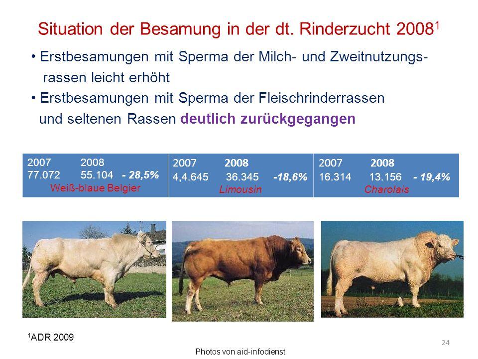 Situation der Besamung in der dt. Rinderzucht 20081