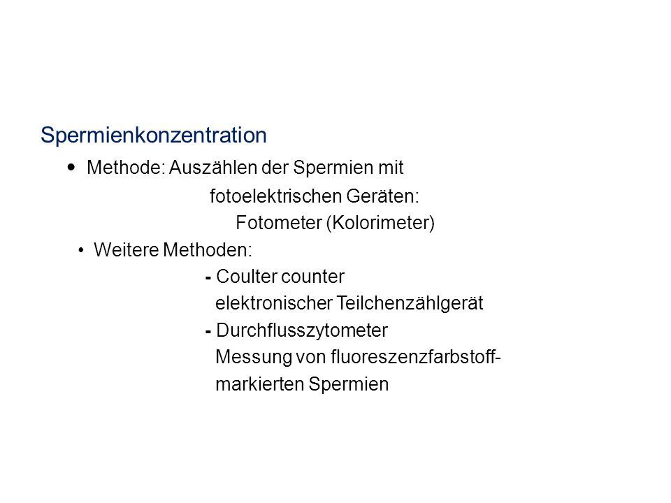 Spermienkonzentration