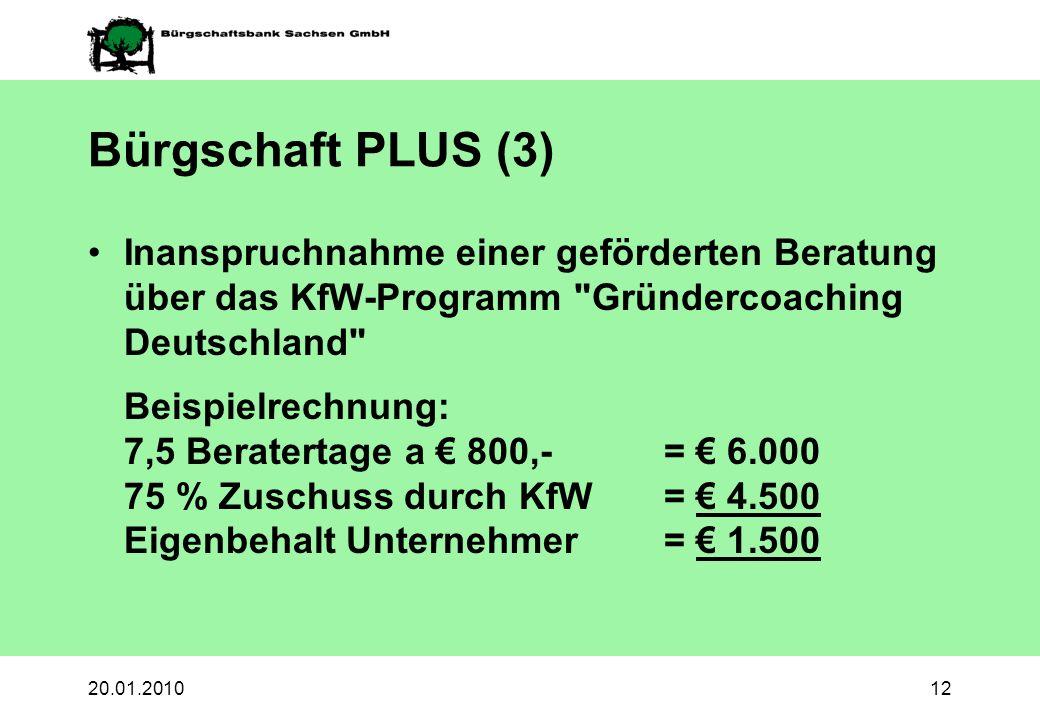 Bürgschaft PLUS (3)