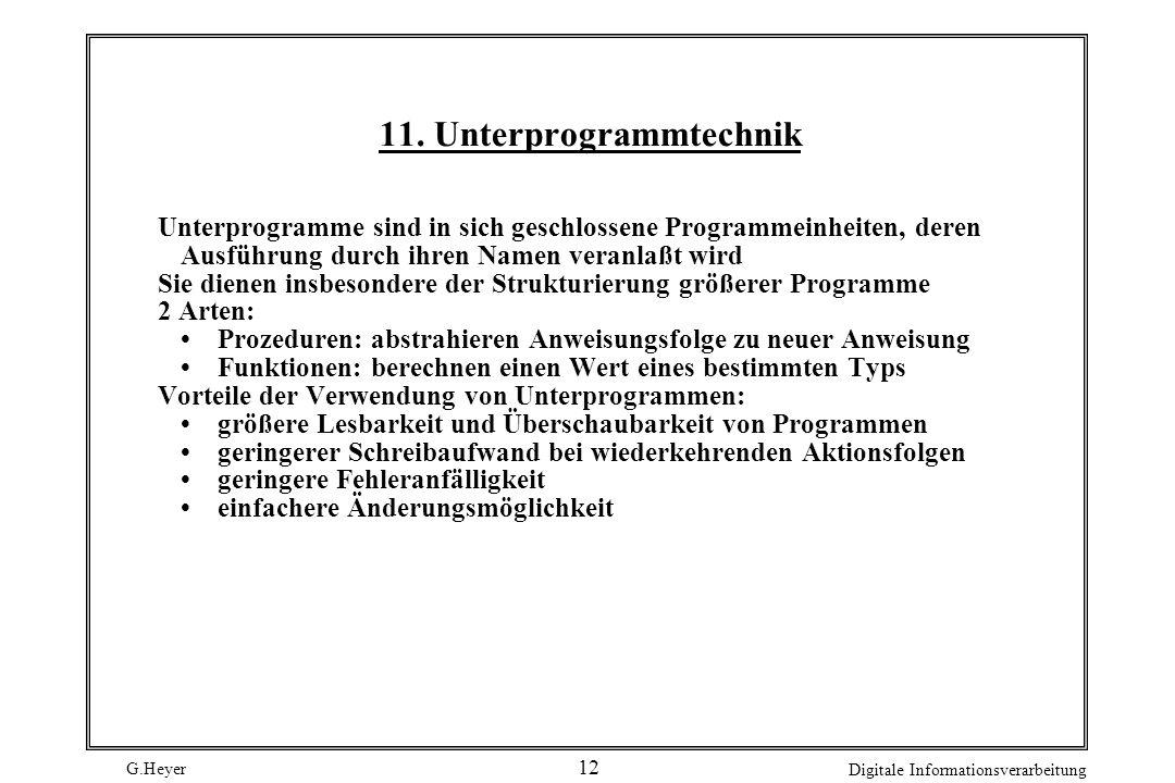 11. Unterprogrammtechnik