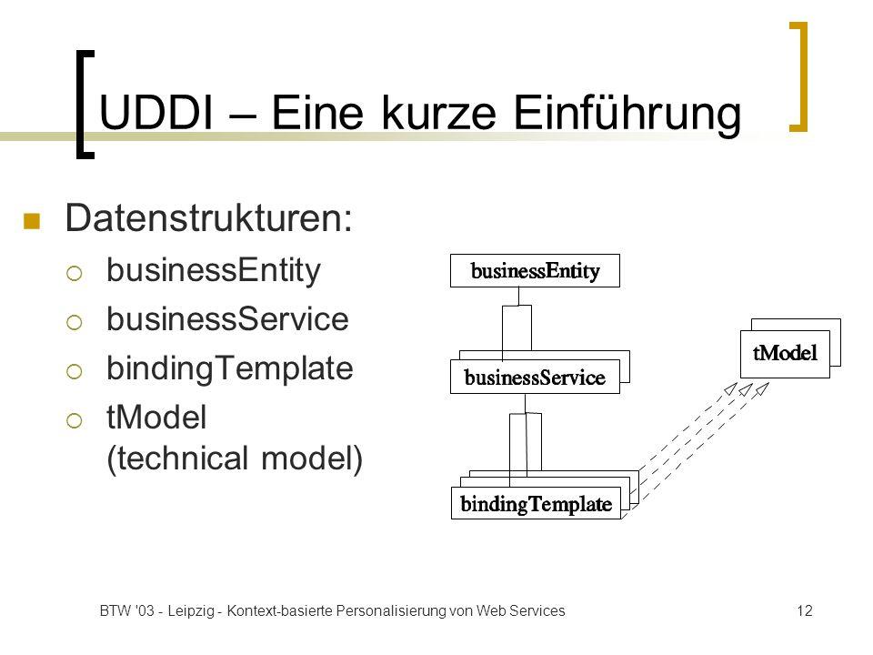 UDDI – Eine kurze Einführung
