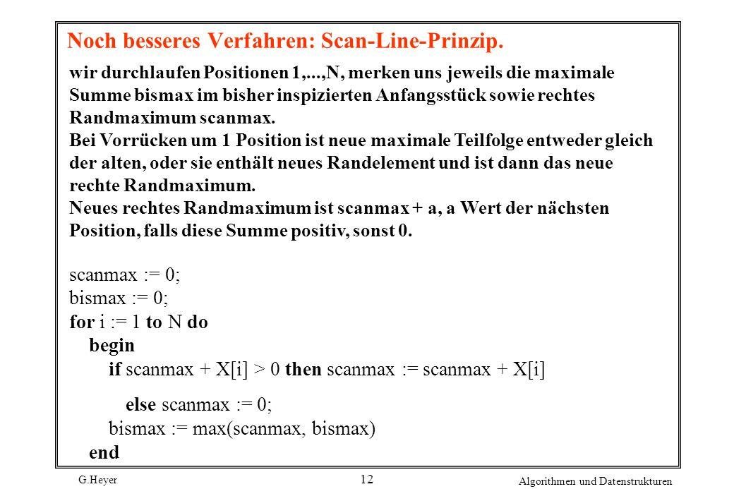 Noch besseres Verfahren: Scan-Line-Prinzip.