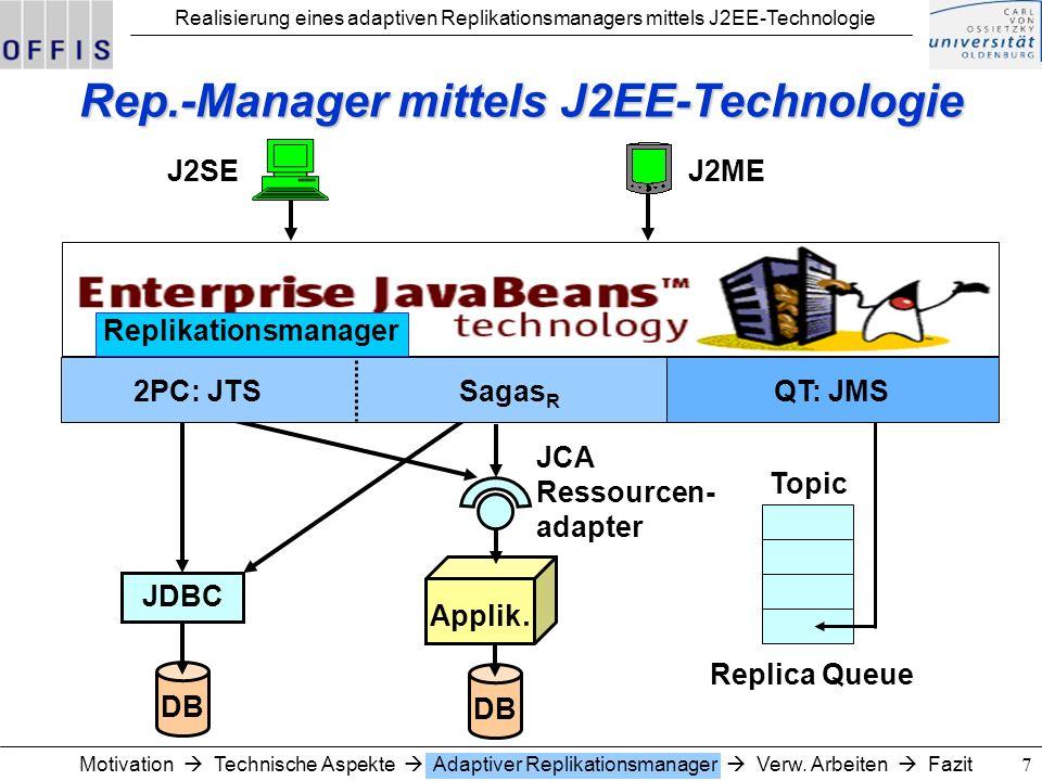 Rep.-Manager mittels J2EE-Technologie