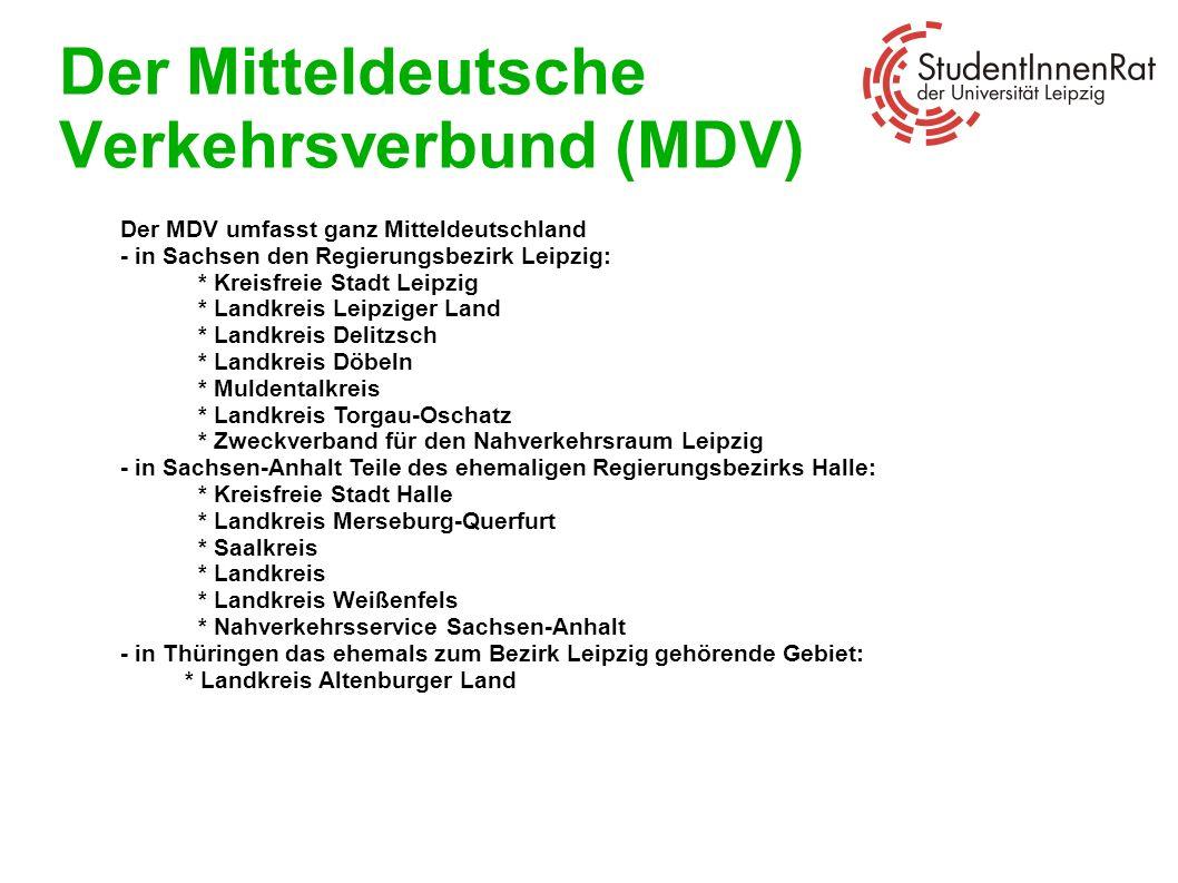 Der Mitteldeutsche Verkehrsverbund (MDV)
