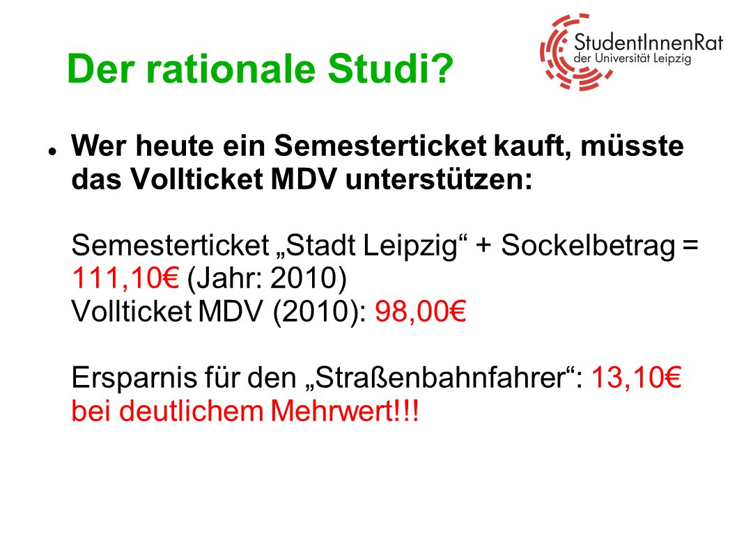 Der rationale Studi