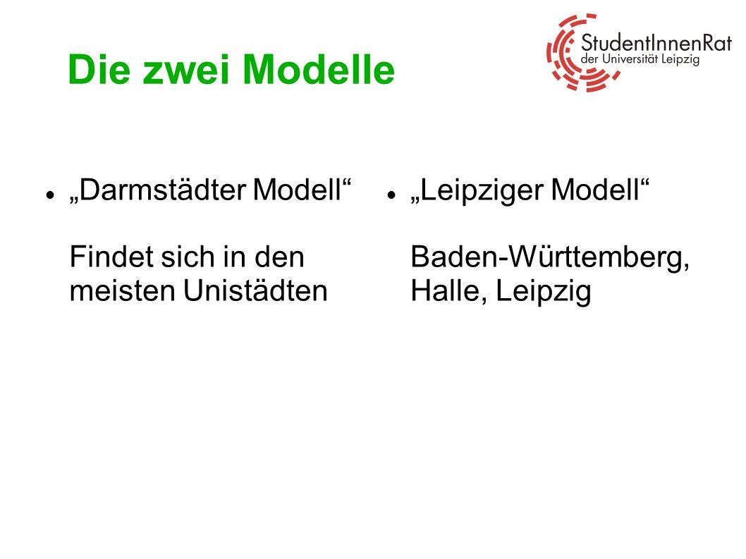 """Die zwei Modelle""""Darmstädter Modell Findet sich in den meisten Unistädten."""