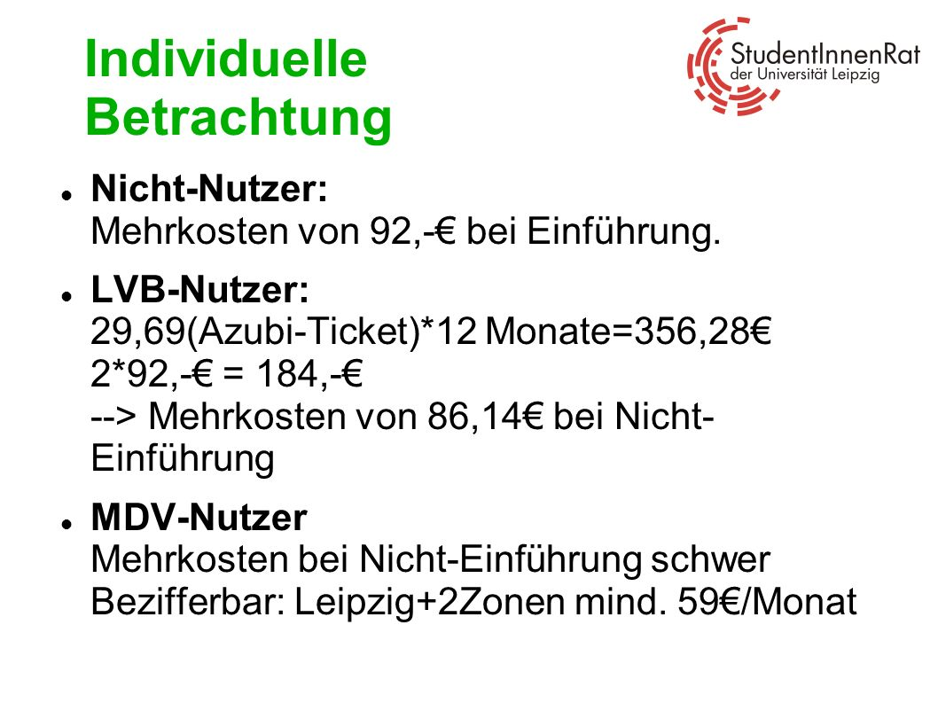 Individuelle Betrachtung