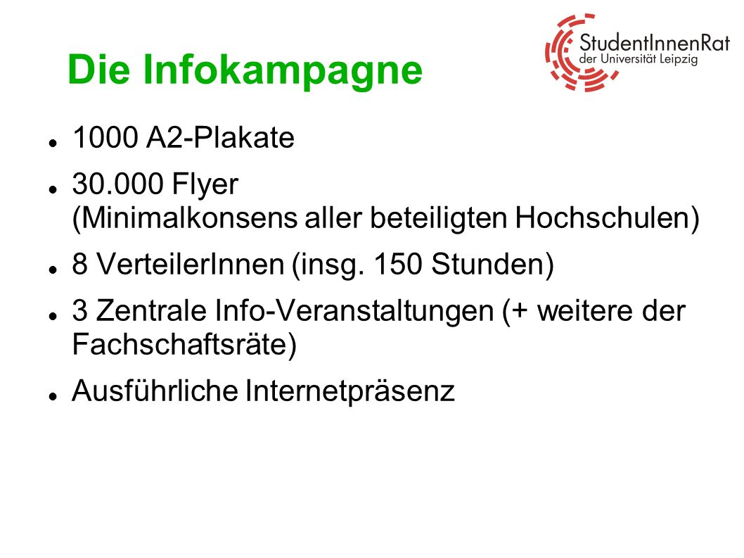Die Infokampagne 1000 A2-Plakate