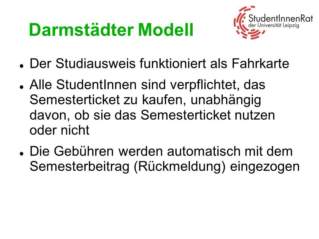 Darmstädter Modell Der Studiausweis funktioniert als Fahrkarte