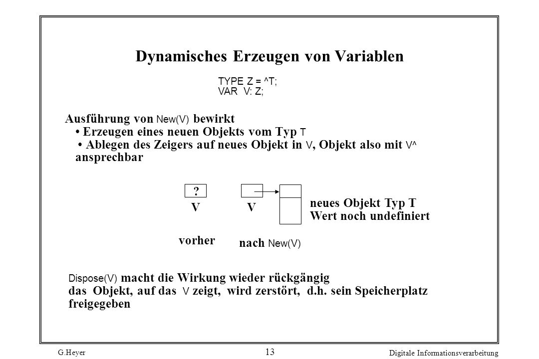 Dynamisches Erzeugen von Variablen