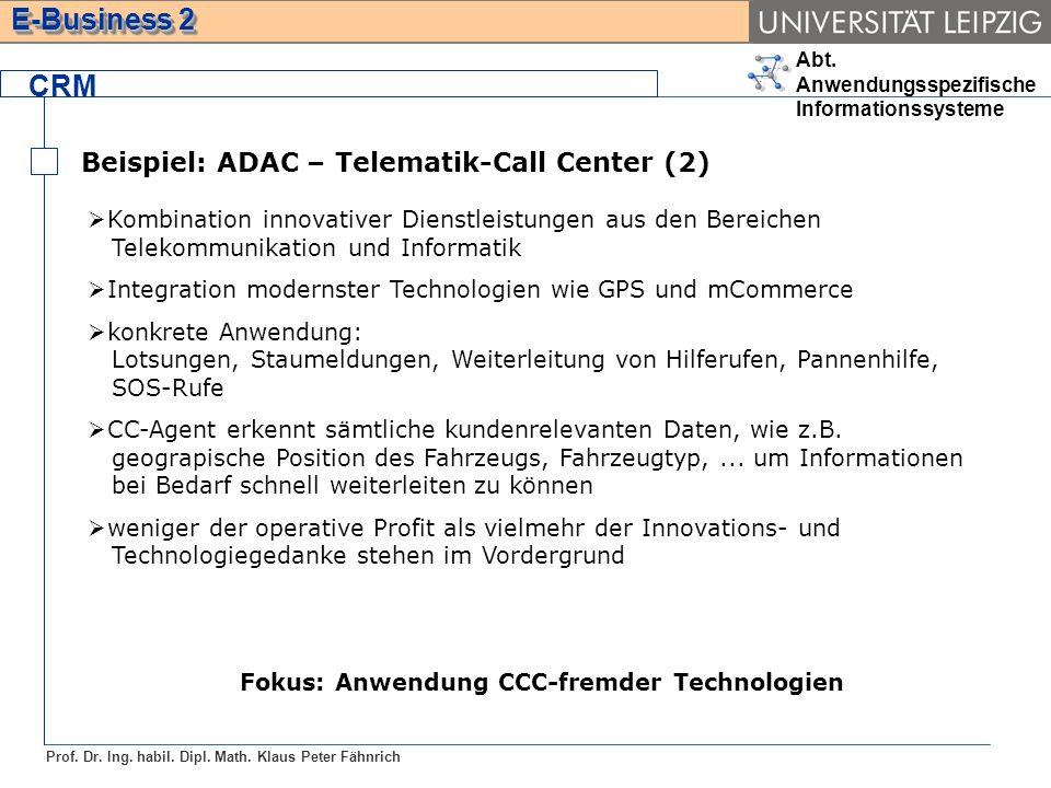 Fokus: Anwendung CCC-fremder Technologien