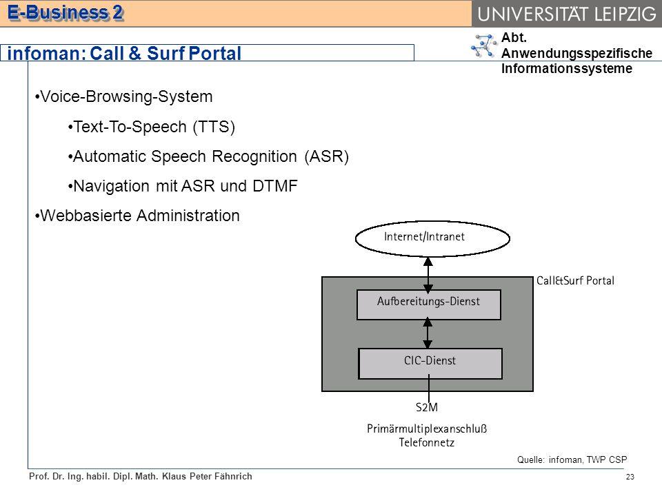 infoman: Call & Surf Portal