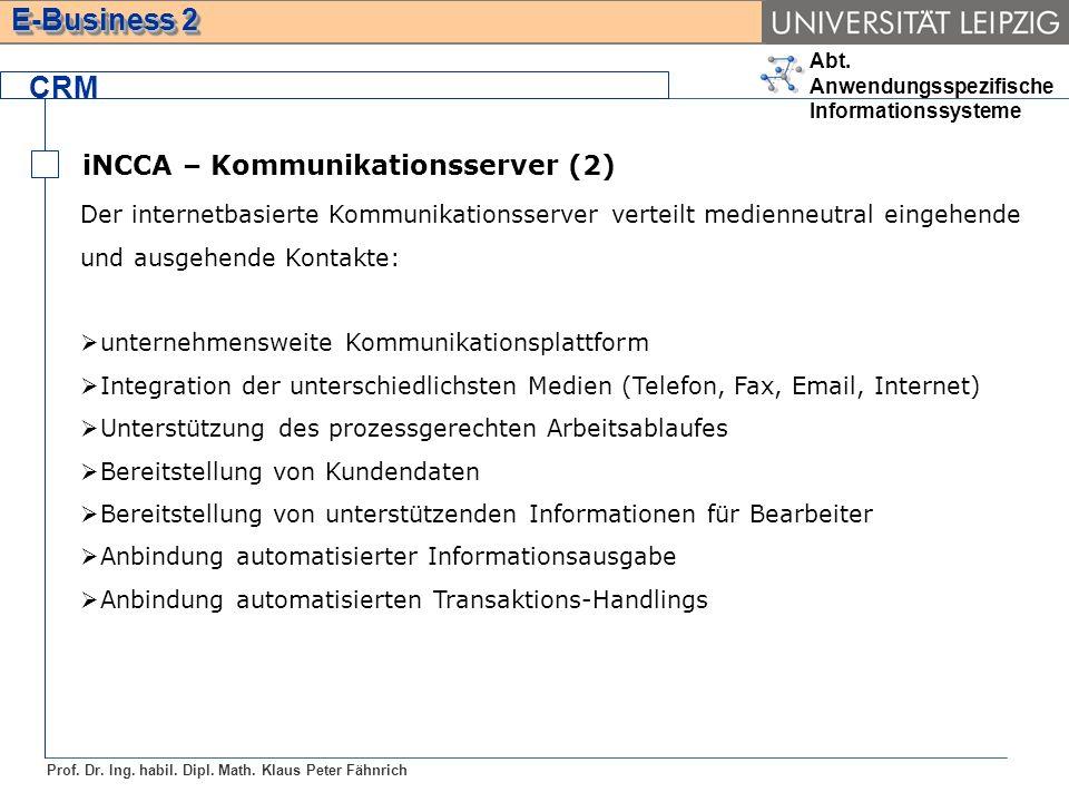CRM iNCCA – Kommunikationsserver (2)