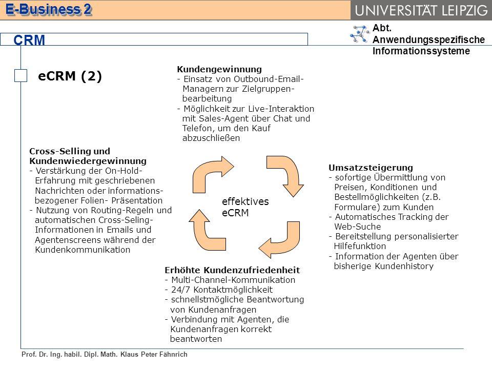 CRM eCRM (2) effektives eCRM Kundengewinnung