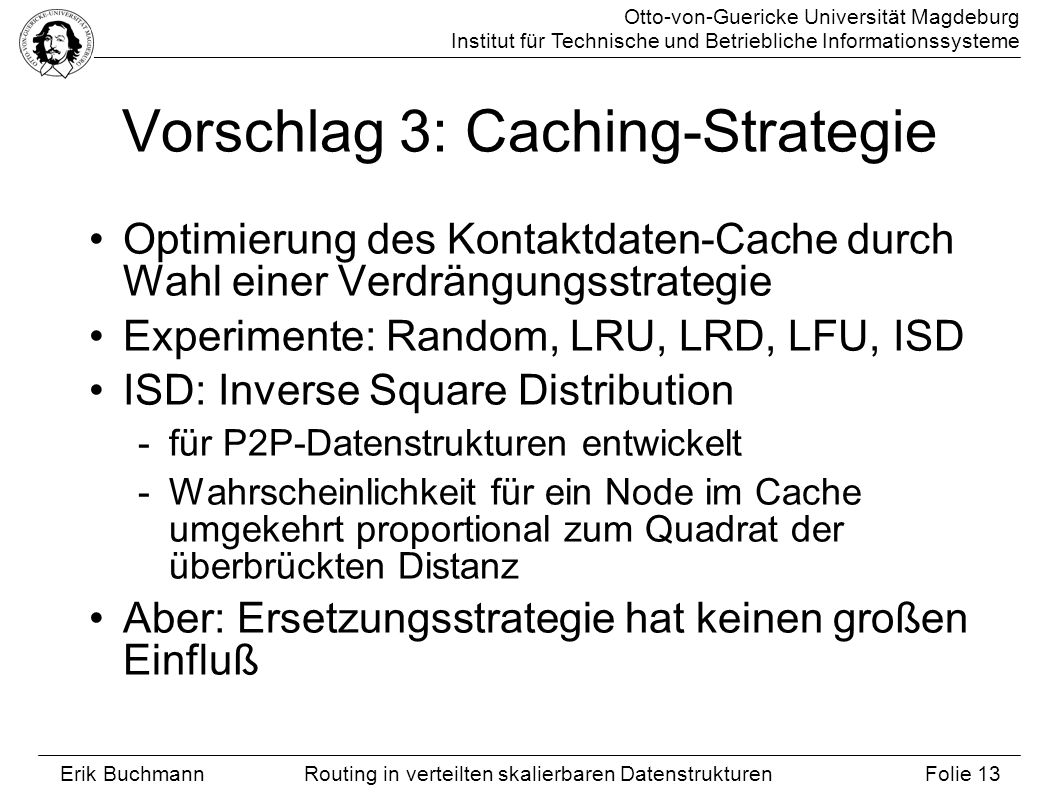 Vorschlag 3: Caching-Strategie