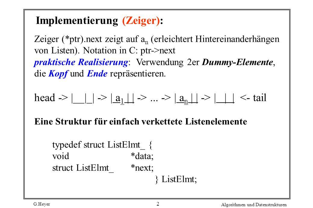 Implementierung (Zeiger):