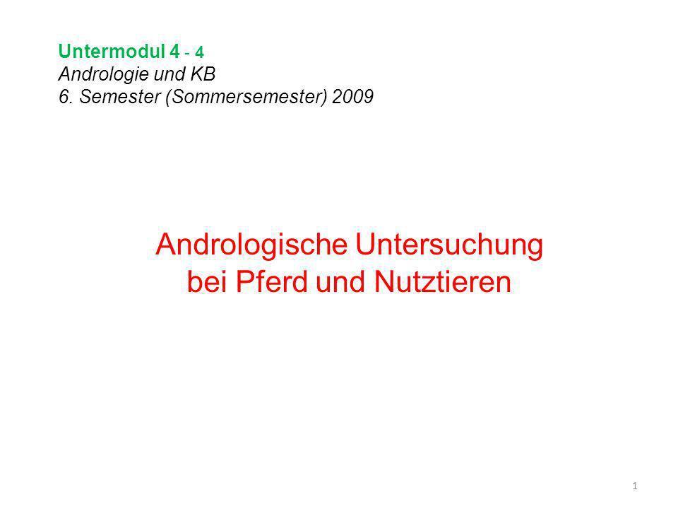 Untermodul 4 - 4 Andrologie und KB 6. Semester (Sommersemester) 2009