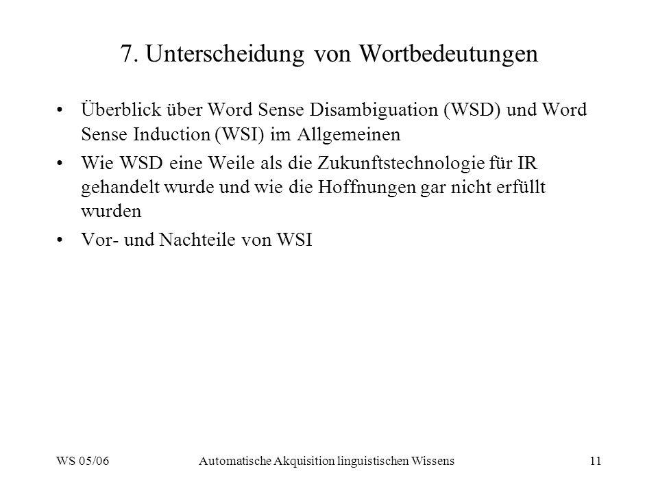 7. Unterscheidung von Wortbedeutungen