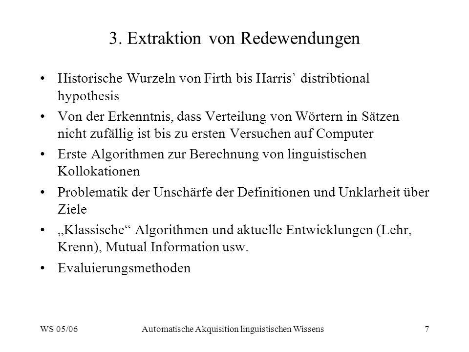 3. Extraktion von Redewendungen