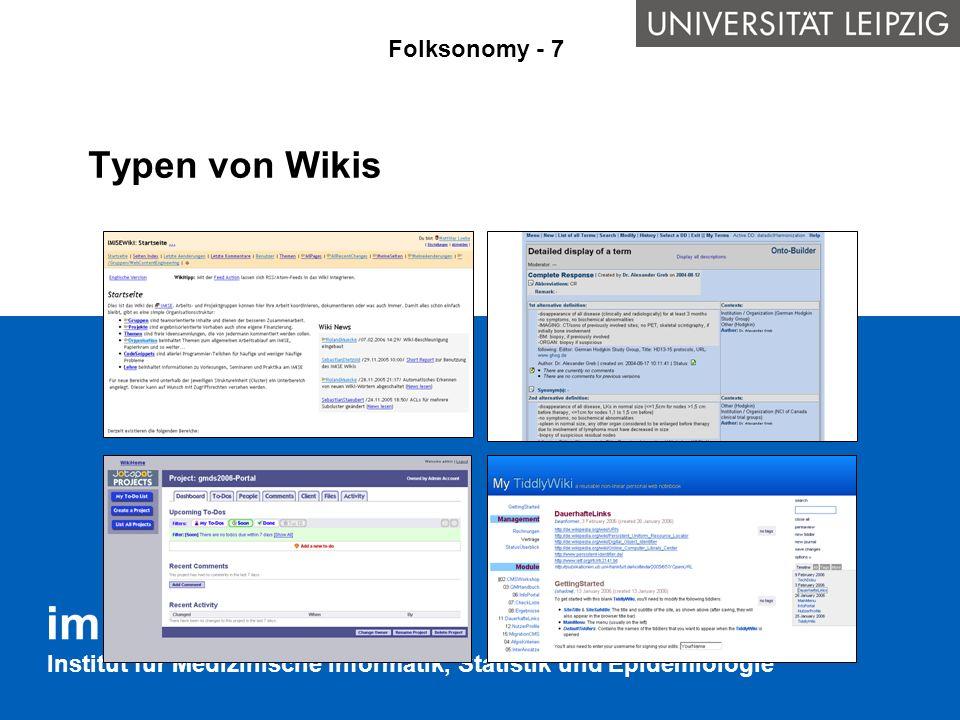 Typen von Wikis Folksonomy - 7
