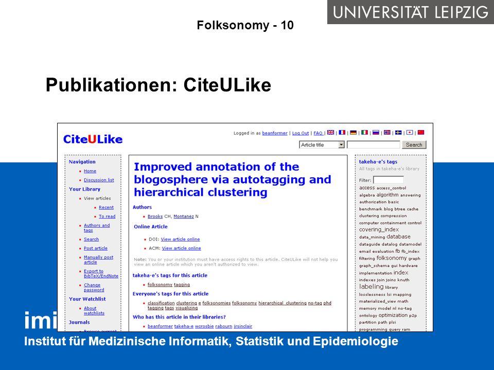 Publikationen: CiteULike