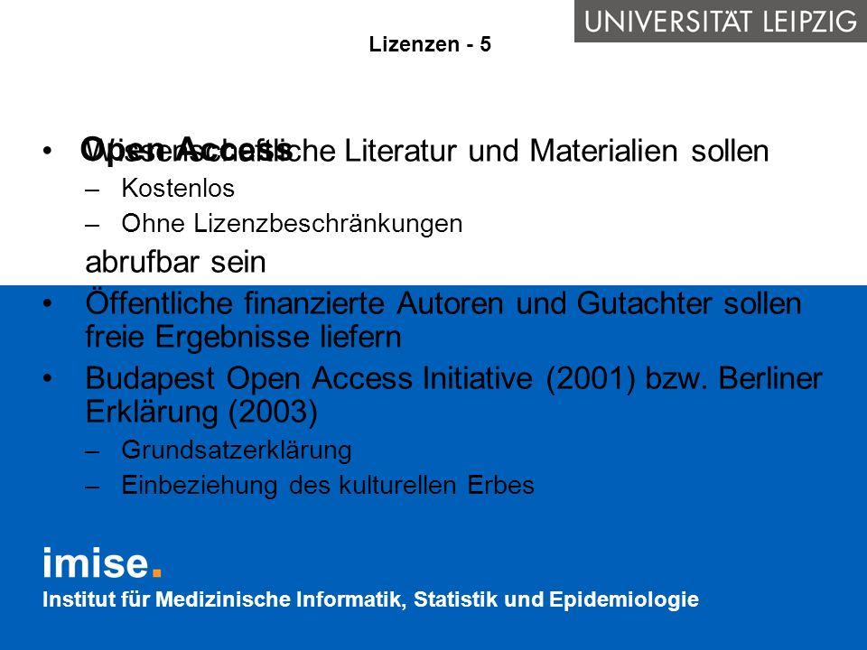 Open Access Wissenschaftliche Literatur und Materialien sollen