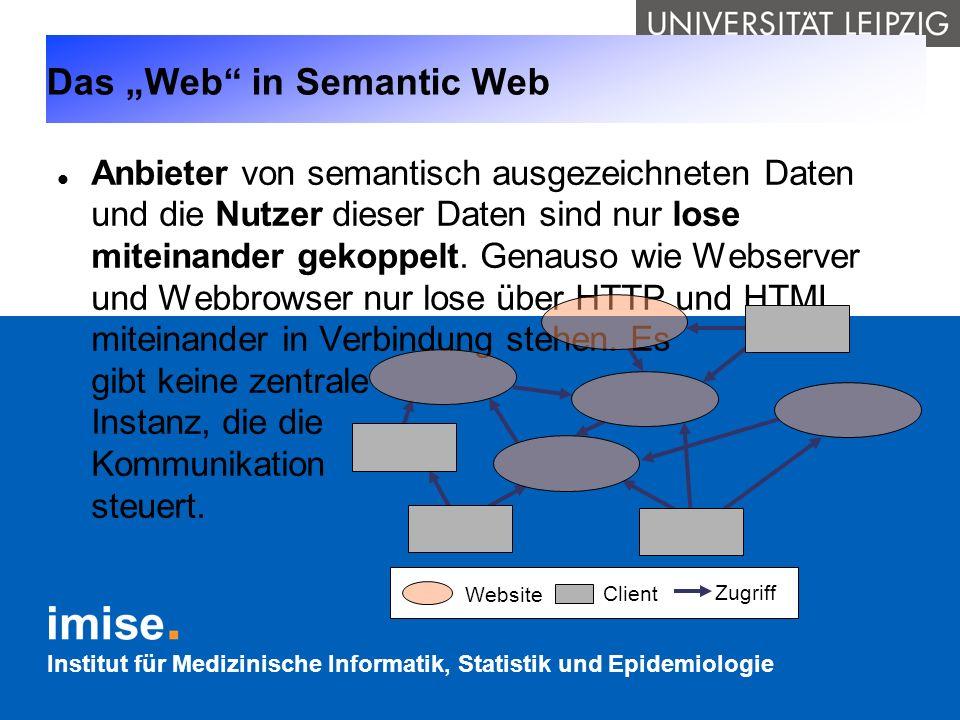 """Das """"Web in Semantic Web"""