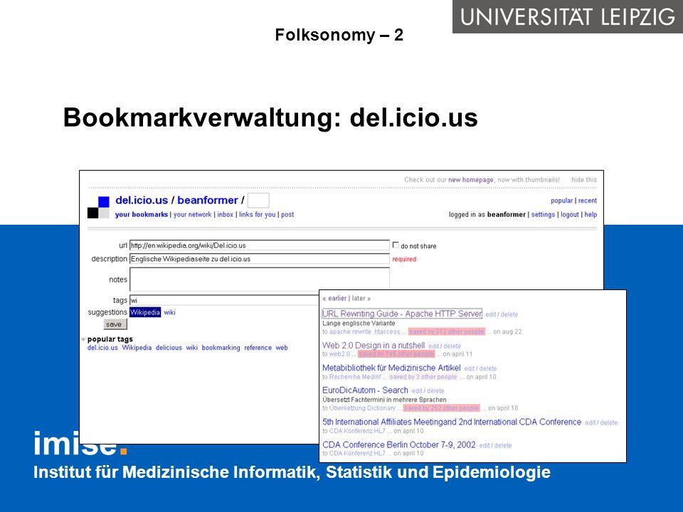 Bookmarkverwaltung: del.icio.us