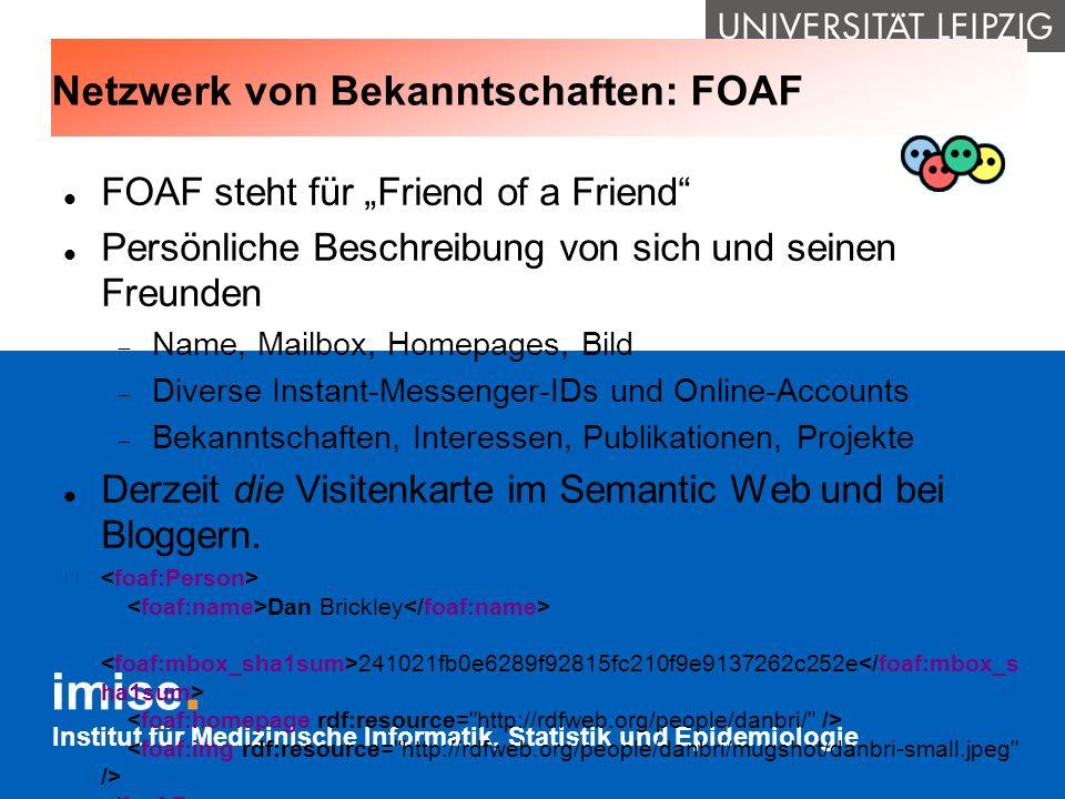 Netzwerk von Bekanntschaften: FOAF