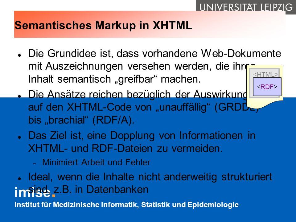Semantisches Markup in XHTML