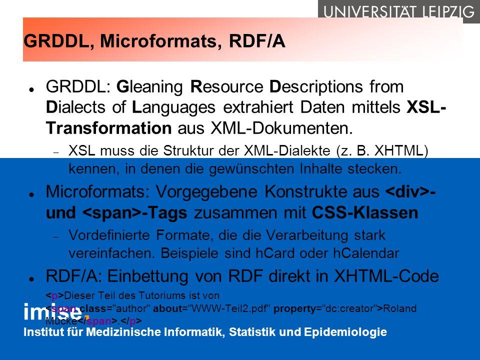 GRDDL, Microformats, RDF/A
