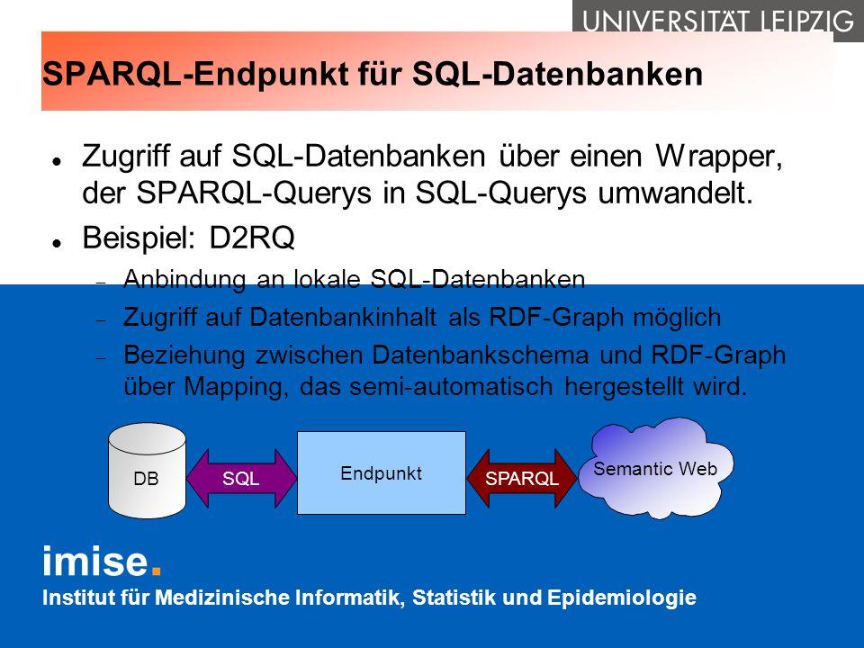 SPARQL-Endpunkt für SQL-Datenbanken