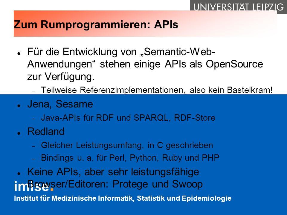 Zum Rumprogrammieren: APIs