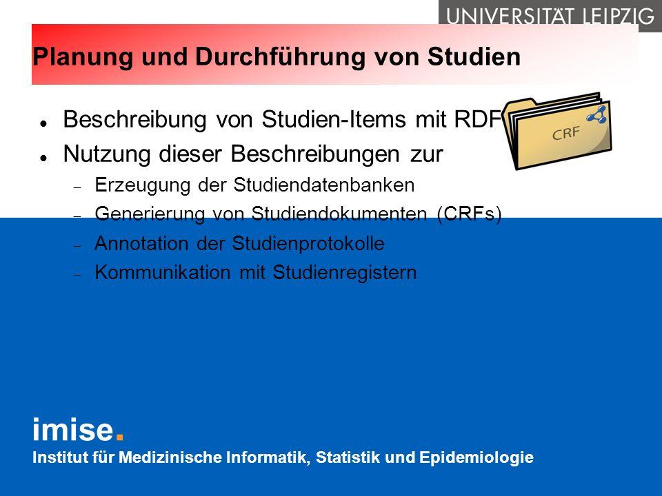 Planung und Durchführung von Studien